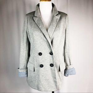 ANTHROPOLOGIE CARTTONIER Soft Grey Blazer